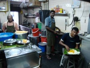 Toiletten bei Komala in der Küche Singapur