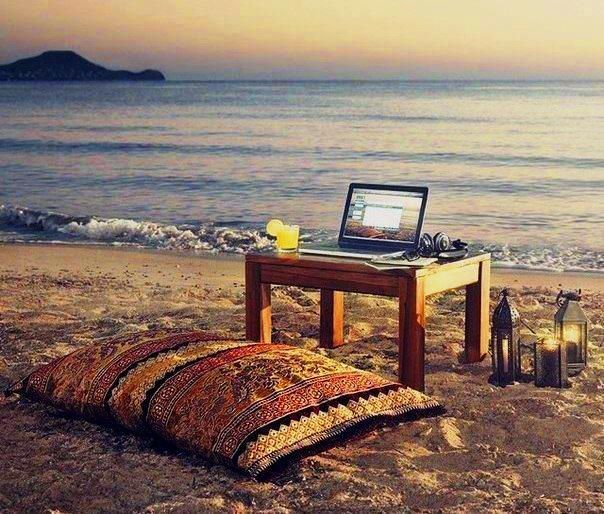 Work at the beach